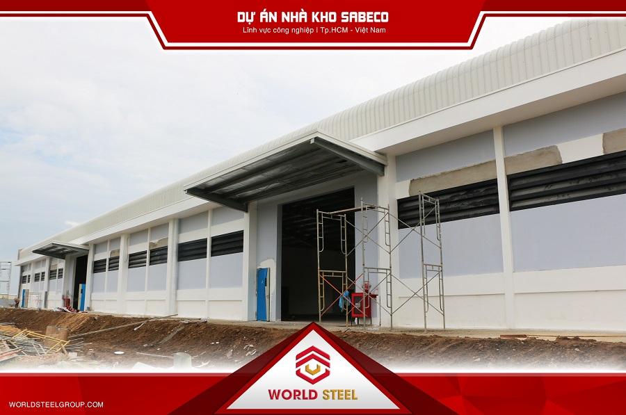 World steel thực hiện dự án xây dựng nhà kho Sabeco củ chi