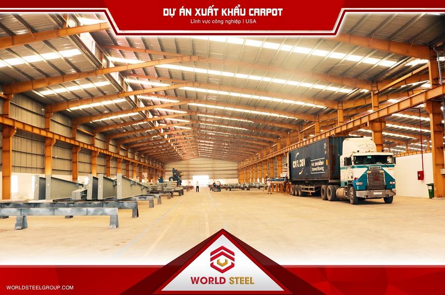 Dự án xuất khẩu Carpot sang mỹ do World Steel thực hiện