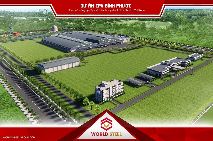 Dự án nhà máy CPV Bình Phước dử dụng kết cấu thép