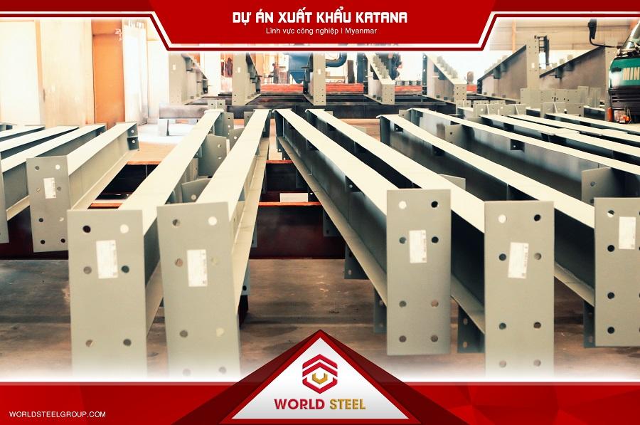 World Steel - Dự án Katana xuất khẩu kết cấu thép sang myanmar
