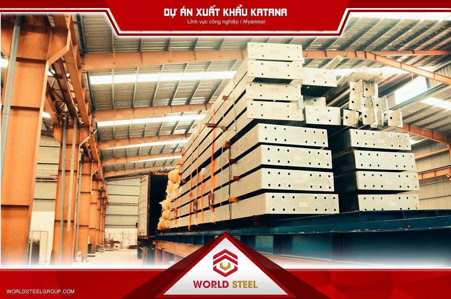 Dự án xuất khẩu thép Katana do Công ty kết cấu thép World Steel sản xuất