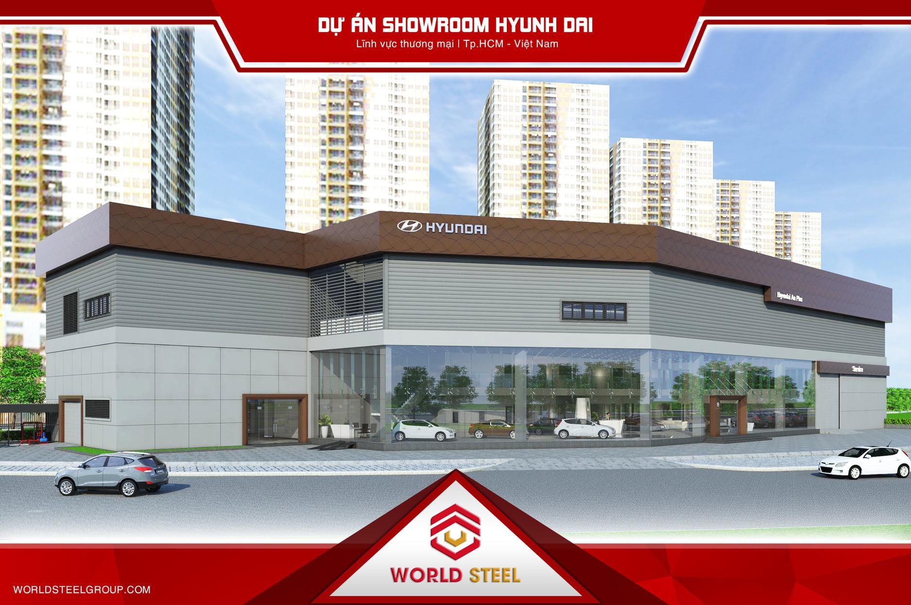 Dự án xây dựng showroom huyndai an phú 3s