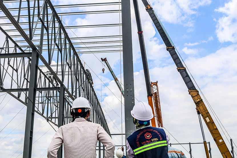 Quy trình lắp dựng nhà tiền chế bằng kết cấu thép