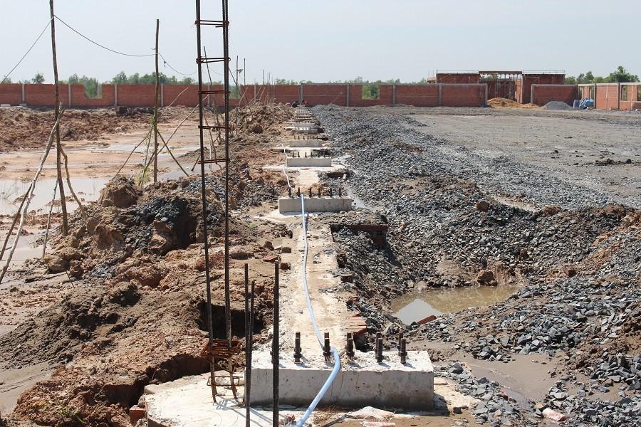 Công đoạn xây dựng nền móng nhà máy WorldSteel