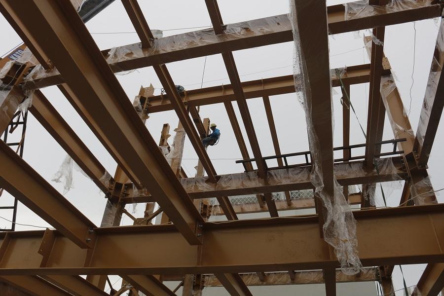 Công tác chuẩn bị lắp đặt kết cấu thép