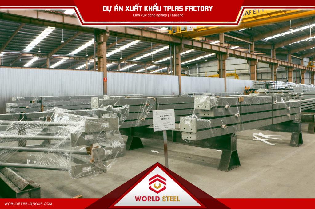 Xuất khẩu kết cấu thép sang Thái Lan - Minh chứng là Dự Án TPLAS Factory
