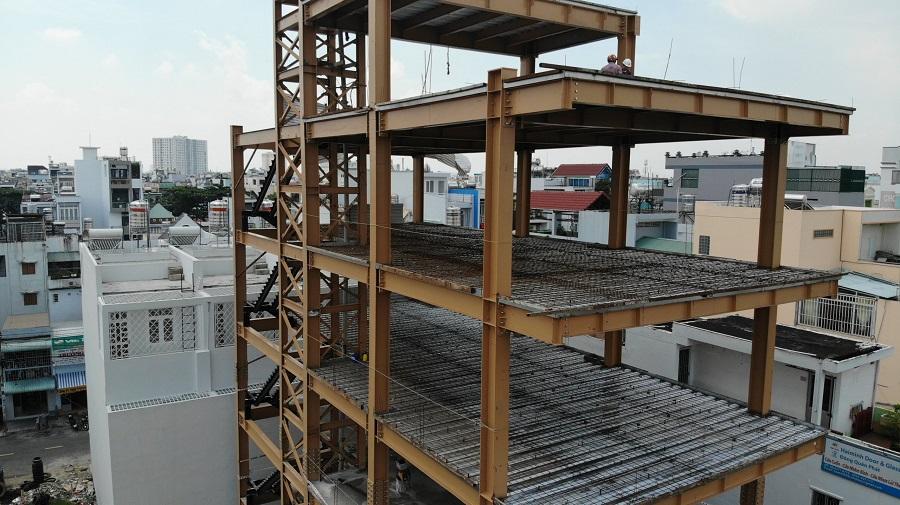 Quy trình lắp dựng nhà kho kết cấu thép