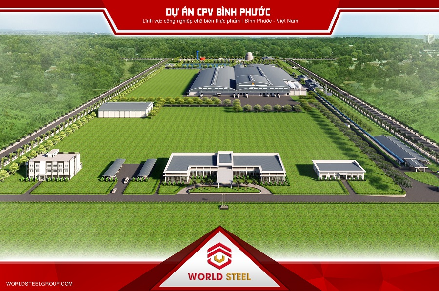 Dự án xây dựng nhà xưởng CPV Food Bình Phước