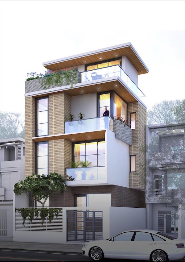 Mẫu nhà phố 3.5 tầng