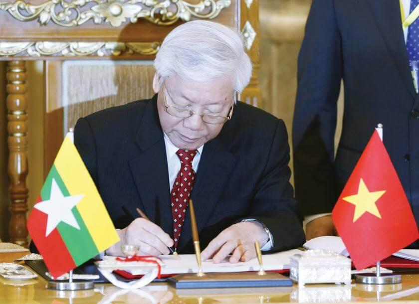 Quan hệ ngoại giao giữa myanmar và Việt Nam