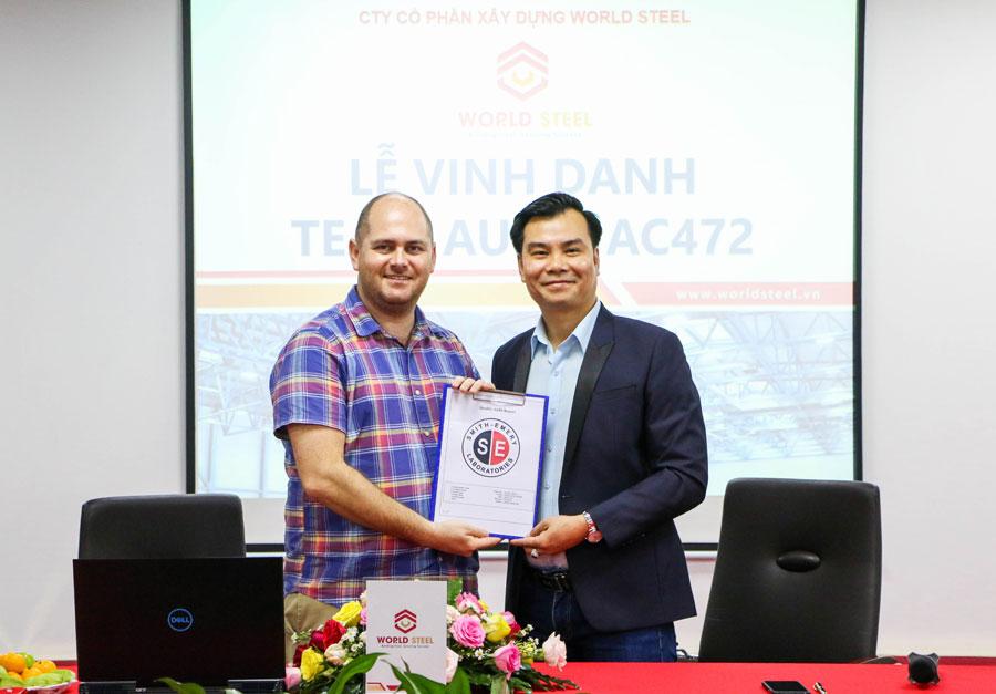 Công ty duy nhất tại châu Á đạt chứng chỉ IAS AC472