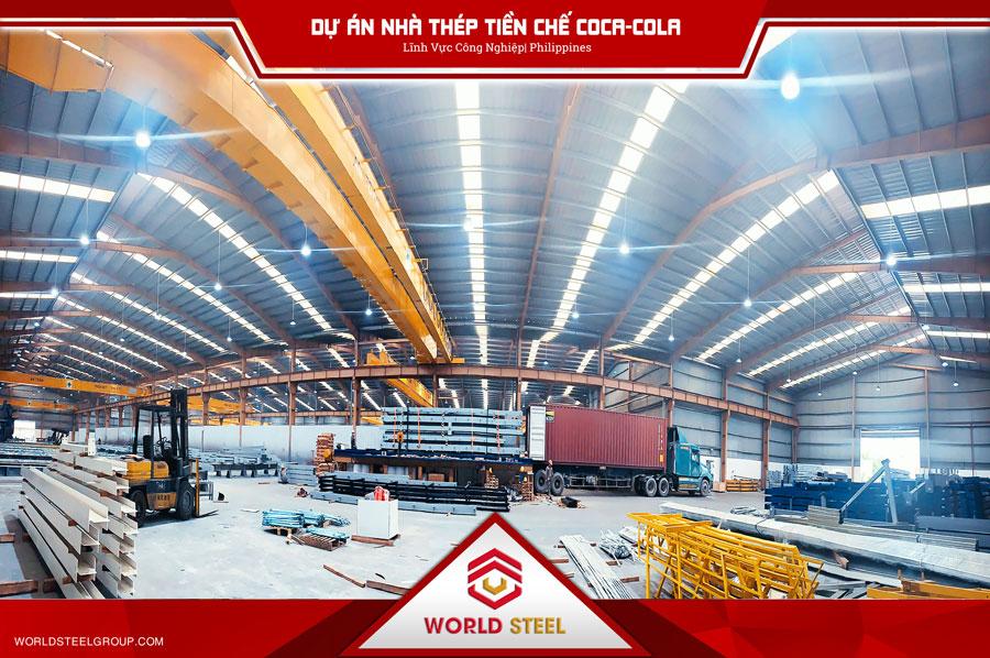 Dự án xuất khẩu kết cấu thép CoCa-CoLa