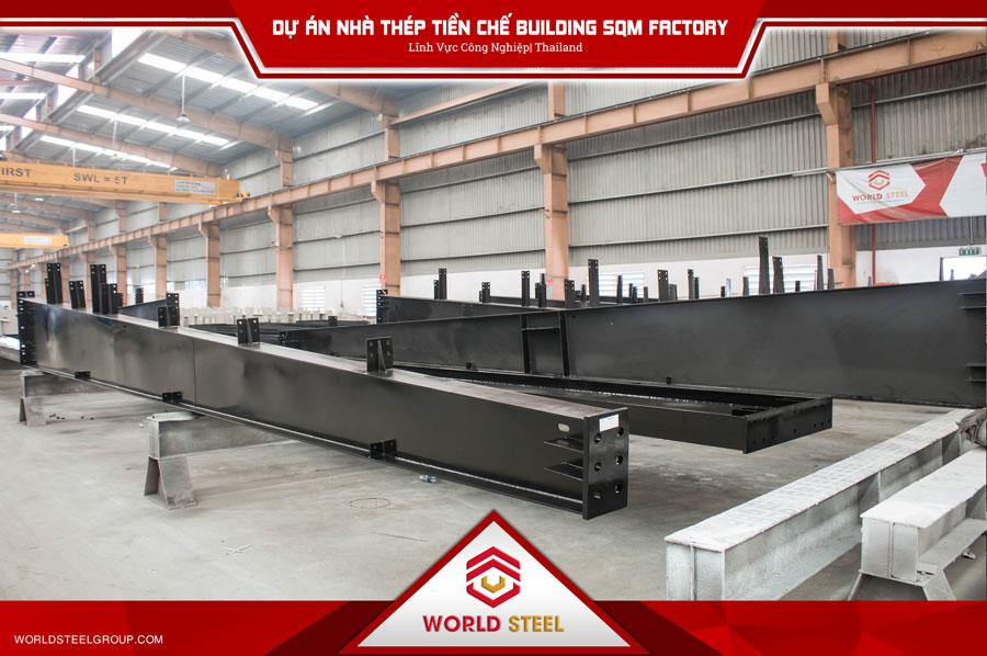 Dự án nhà thép tiền chế Building SQM Factory